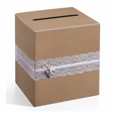 Enveloppen geschenkdoos bruin
