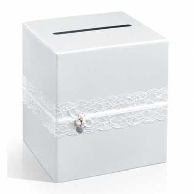 Enveloppen geschenkdoos met kant