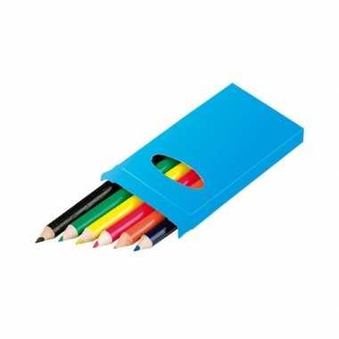 Gekleurde potloden in doosje van 6