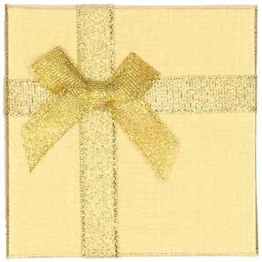 Goud sieradendoosje/cadeaudoosje 9 x 9 cm