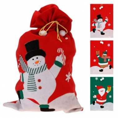 Vilten Cadeau Zak Kerstmis