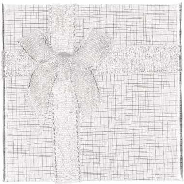 Zilver sieradendoosje/cadeaudoosje 9 x 9 cm