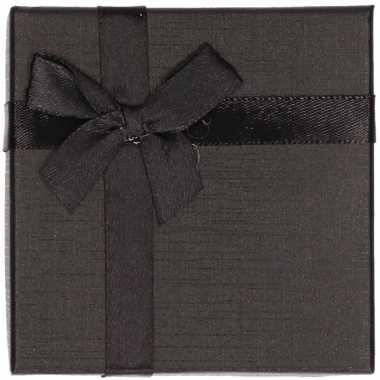 Zwart sieradendoosje/cadeaudoosje 9 x 9 cm