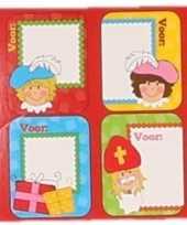 Sinterklaas sint kado stickers in rood doosje