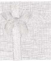 Zilver sieradendoosje cadeaudoosje 9 x 9 cm